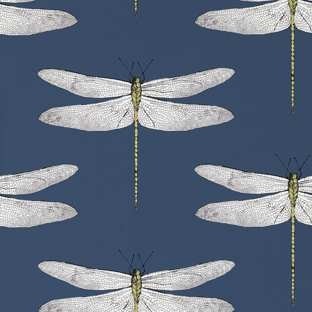 Demoiselle Ink Chartreuse Wallpaper, Harlequin, Palmetto, Wall to Wall Wallpaper | Contemporary Wallpaper Online NZ