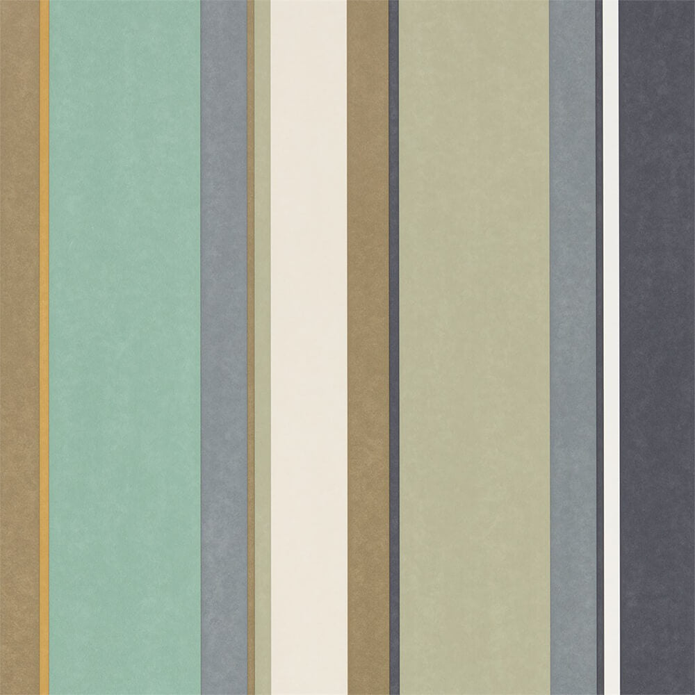 Bella Stripe Olive Gilver Mint Wallpaper, Harlequin, Standing Ovation, Wall to Wall Wallpaper | Contemporary Wallpaper Online NZ