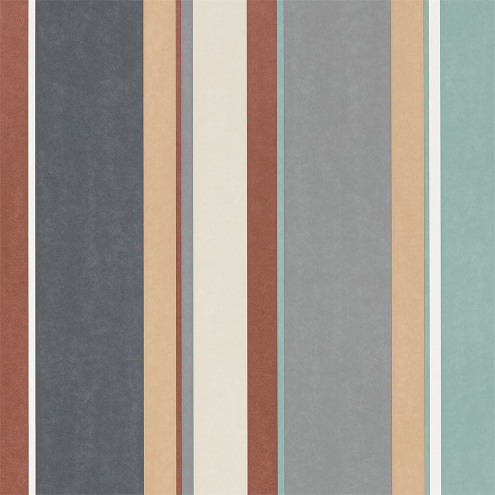 Bella Stripe Sepia Copper Duckegg Wallpaper, Harlequin, Standing Ovation, Wall to Wall Wallpaper | Contemporary Wallpaper Online NZ