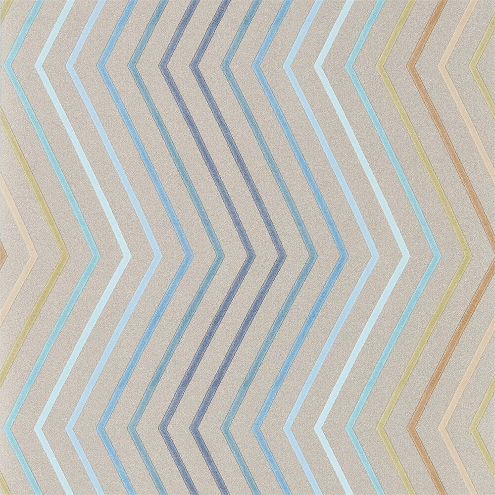 Tresillo Sky Cerulean Caper Wallpaper, Harlequin, Tresillo, Wall to Wall Wallpaper | Contemporary Wallpaper Online NZ
