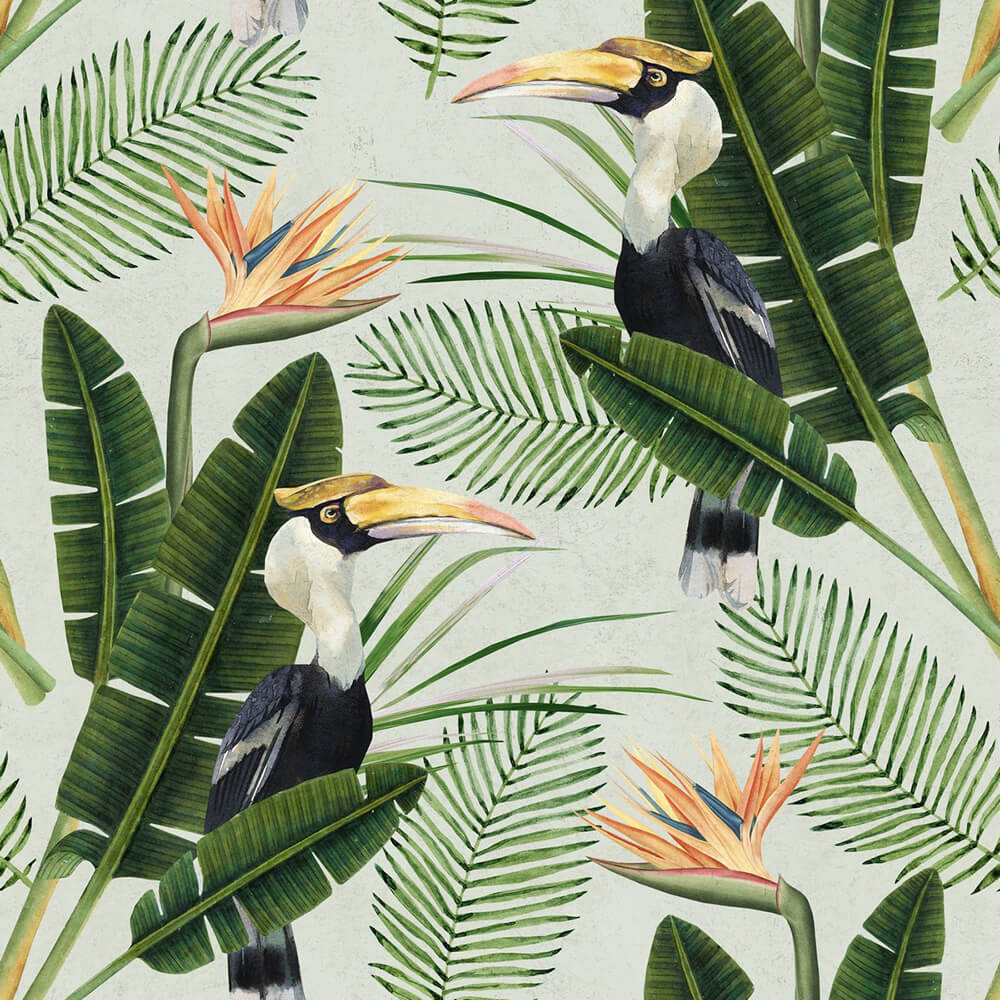 Birds Of Paradise Wallpaper, Mind the Gap, Mind the Gap 2017, Wall to Wall Wallpaper | Contemporary Wallpaper Online NZ