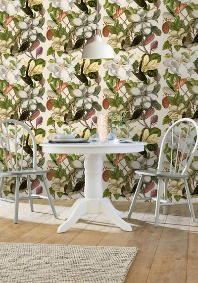 Magnolia Taupe Wallpaper, Mind the Gap, Mind the Gap 2018, Wall to Wall Wallpaper | Contemporary Wallpaper Online NZ
