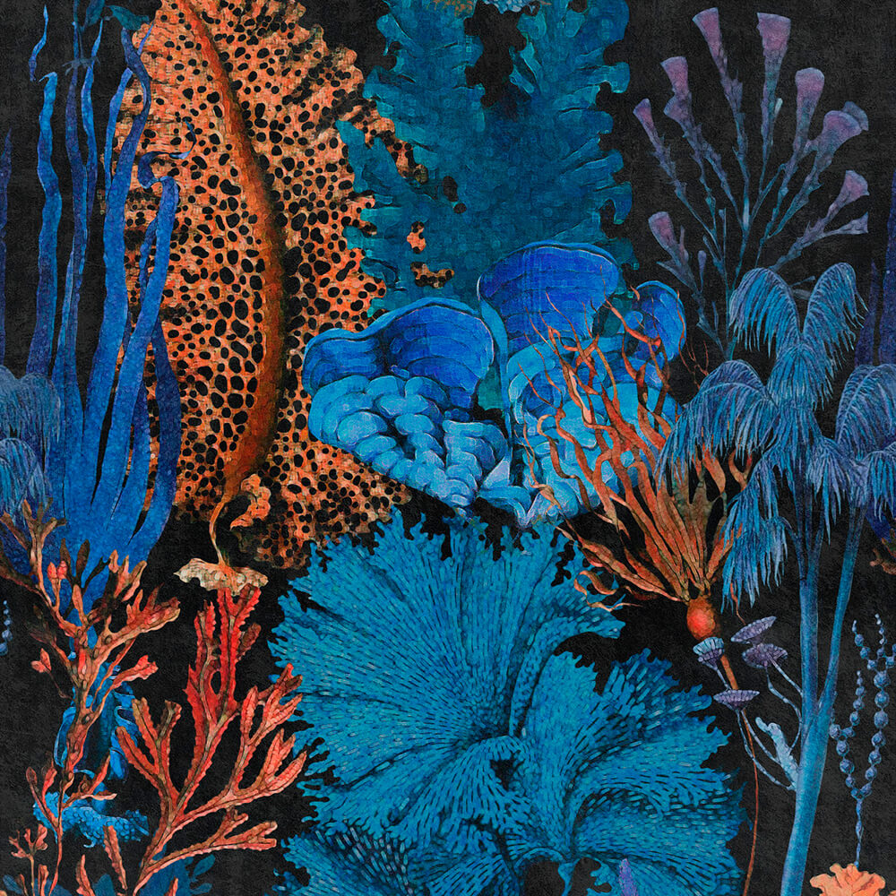 Coral Reef Ultramarine Wallpaper, Mind the Gap, Mind the Gap 2019, Wall to Wall Wallpaper | Contemporary Wallpaper Online NZ