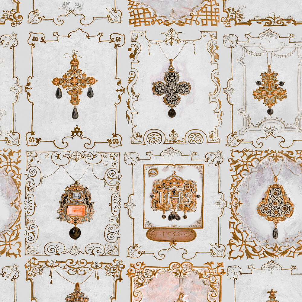 Anna's Jewelry Neutral Wallpaper, Mind the Gap, Mind the Gap 2019, Wall to Wall Wallpaper | Contemporary Wallpaper Online NZ