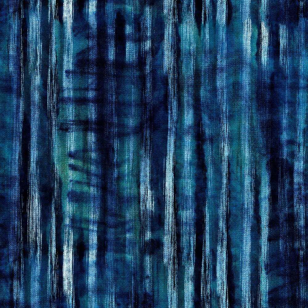 Tie Dye Indigo Wallpaper, Mind the Gap, Mind the Gap 2019, Wall to Wall Wallpaper | Contemporary Wallpaper Online NZ