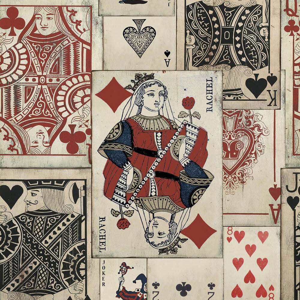 Play Cards Wallpaper, Mind the Gap, Mind the Gap 2017, Wall to Wall Wallpaper | Contemporary Wallpaper Online NZ