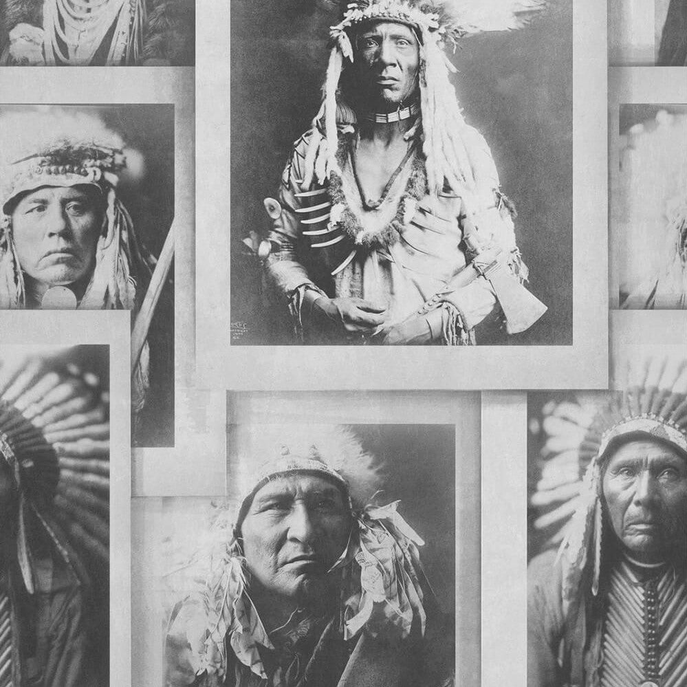 Indian Chiefs Wallpaper, Mind the Gap, Mind the Gap 2017, Wall to Wall Wallpaper | Contemporary Wallpaper Online NZ