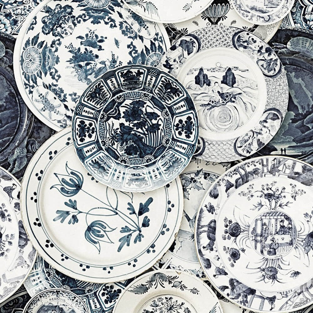 Delftware Vintage Wallpaper, Mind the Gap, Mind the Gap 2018, Wall to Wall Wallpaper | Contemporary Wallpaper Online NZ