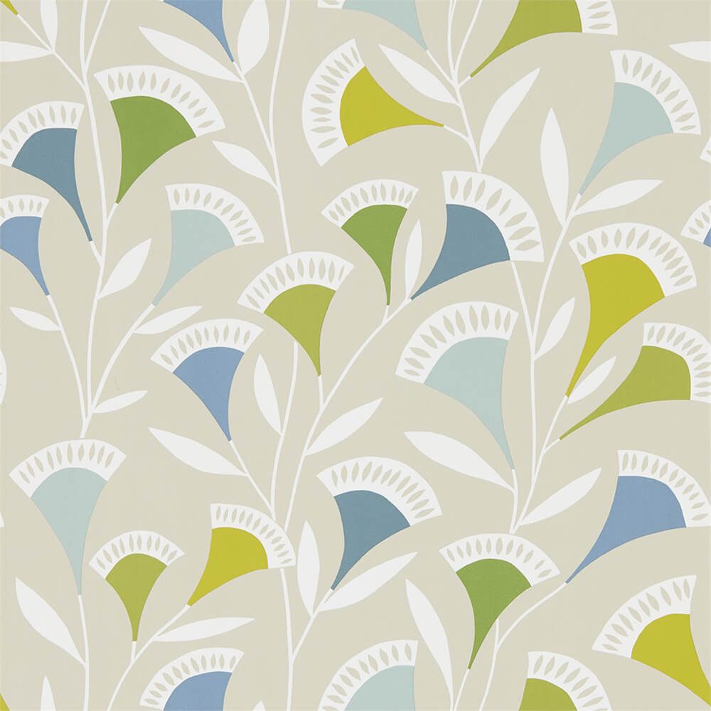 Noukku Citrus Glacier Biscuit Wallpaper, Scion, Noukku, Wall to Wall Wallpaper | Contemporary Wallpaper Online NZ