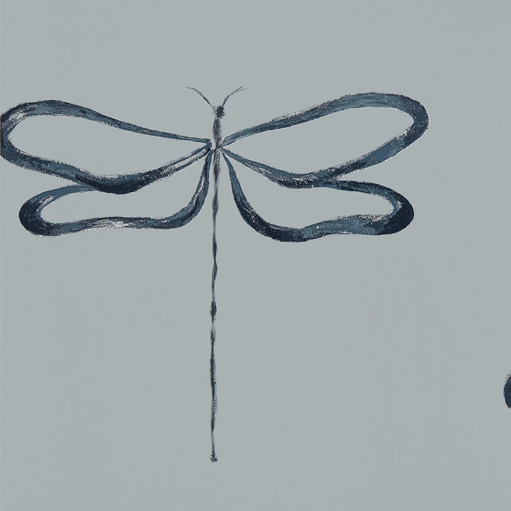 Dragonfly Liquorice Wallpaper, Scion, Japandi, Wall to Wall Wallpaper | Contemporary Wallpaper Online NZ