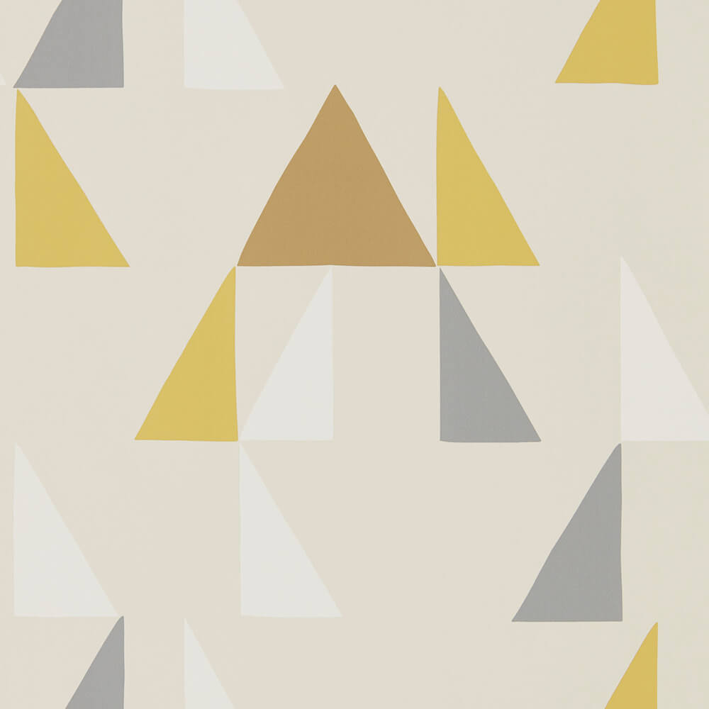 Modul Mustard Pewter Cinnamon Wallpaper, Scion, Lohko, Wall to Wall Wallpaper | Contemporary Wallpaper Online NZ