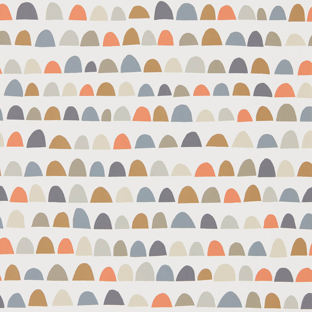 Priya Nutmeg Paprika Jet Wallpaper, Scion, Lohko, Wall to Wall Wallpaper | Contemporary Wallpaper Online NZ