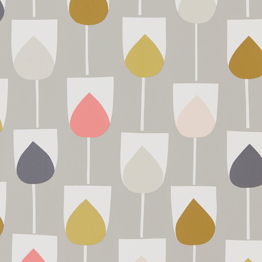 Sula Flamingo Honey Linen Wallpaper, Scion, Lohko, Wall to Wall Wallpaper | Contemporary Wallpaper Online NZ
