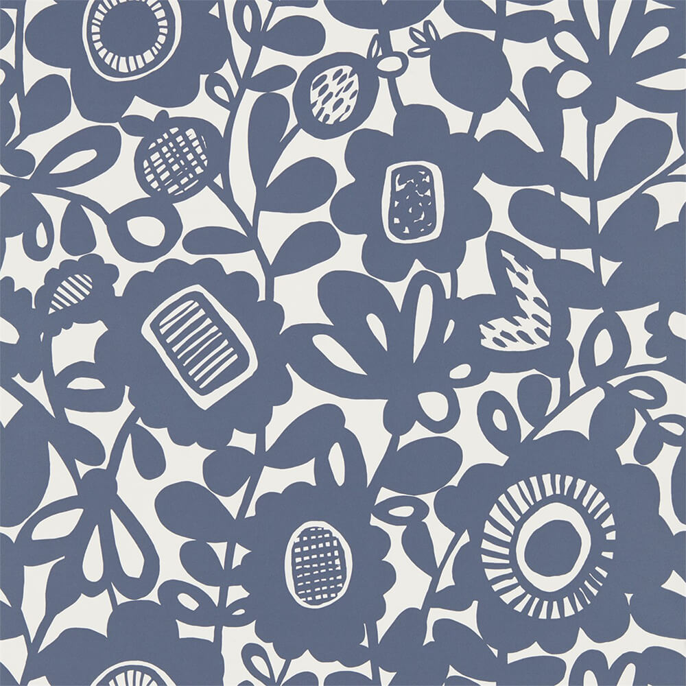 Kukkia Ink Wallpaper, Scion, Noukku, Wall to Wall Wallpaper | Contemporary Wallpaper Online NZ