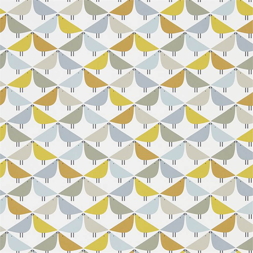 Lintu Dandelion Butterscotch Pebble Wallpaper, Scion, Noukku, Wall to Wall Wallpaper | Contemporary Wallpaper Online NZ
