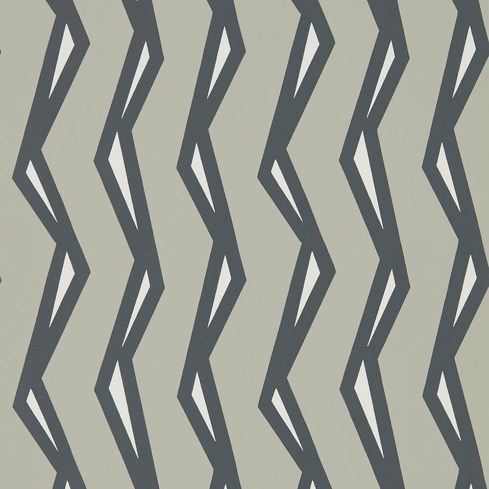 Rayo Steel Liquorice Wallpaper, Scion, Nuevo, Wall to Wall Wallpaper | Contemporary Wallpaper Online NZ