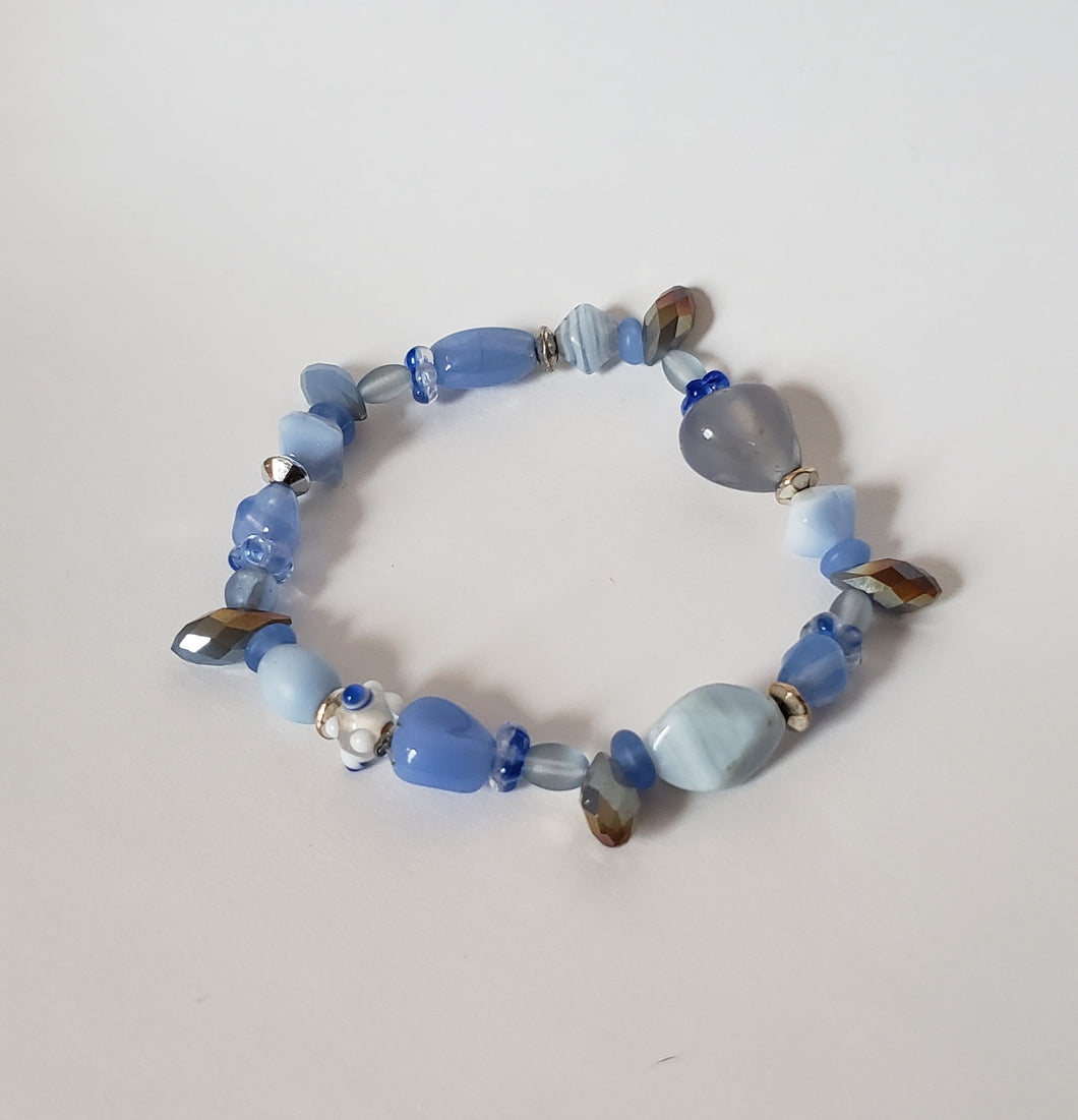 Lilac & Light Blue Bracelet