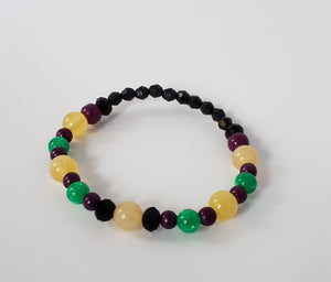 Purple, Yellow, Green & Black Bracelet