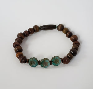 Brown & Teal Bracelet