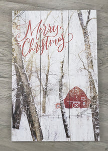Merry Christmas (Red Barn)