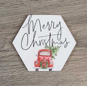 Merry Christmas-Red Truck