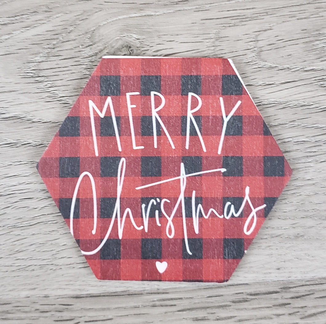 Merry Christmas Red Plaid