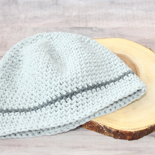 For the Guys Beanie-Light Gray