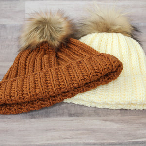 Ribbed Hat - Off White