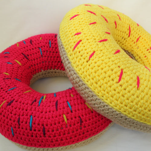 Jumbo Sprinkle Donut Pillow