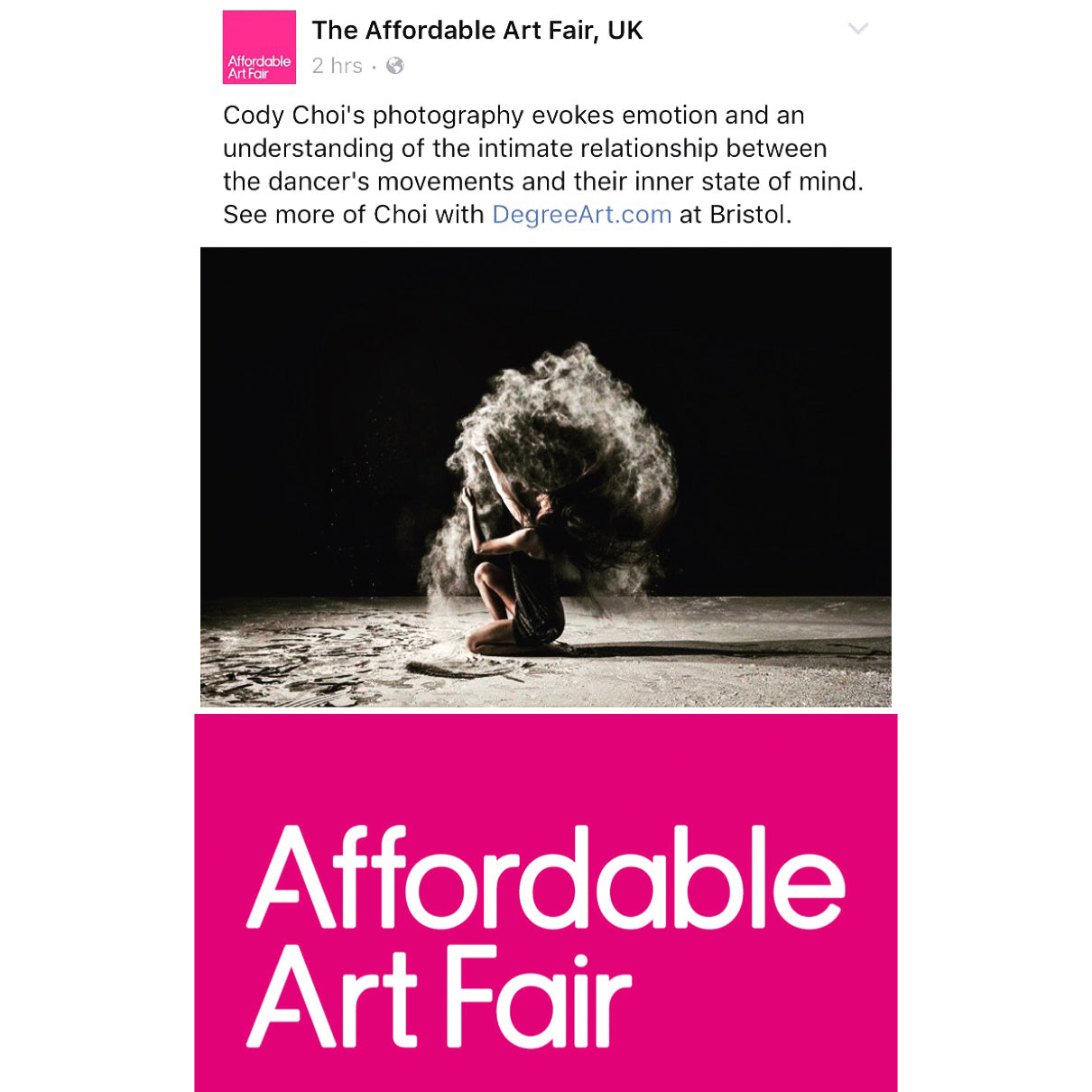 Cody's art featured at Affordable Art Fair