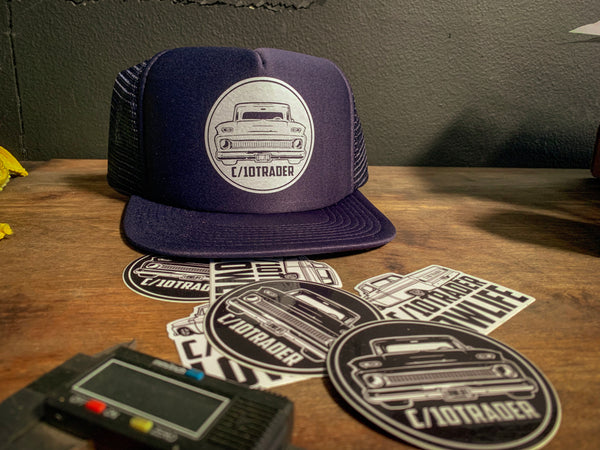 C10Trader Circle Logo Hat/Sticker Pack