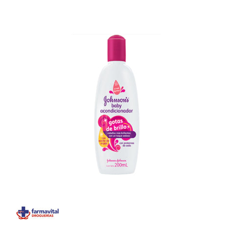 ACONDICIONADOR JOHNSON & JOHNSON GOTAS DE BRILLO 200 ML