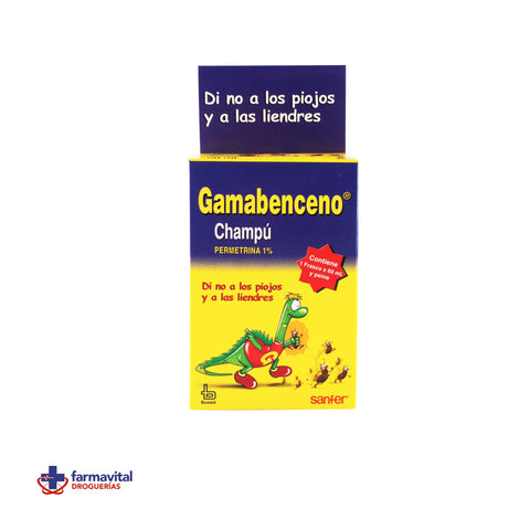 GAMABENCENO CHAMPÚ 60 ML