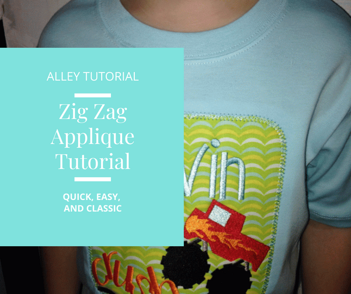 Zig Zag Applique Tutorial