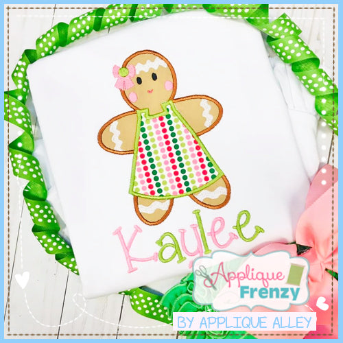 GINGERBREAD GIRL APPLIQUE DESIGN 5216AAAF