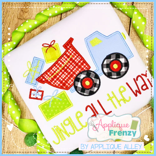 CHRISTMAS DUMPTRUCK APPLIQUE DESIGN 5218AAAF