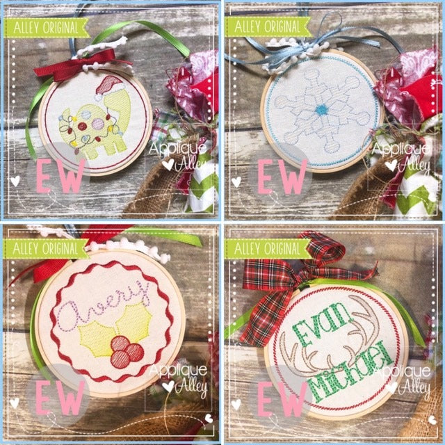 CHRISTMAS WINTER ORNAMENT SET AAEW