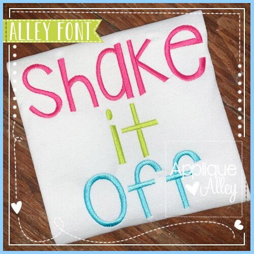 SHAKE IT OFF FONT - AAEH
