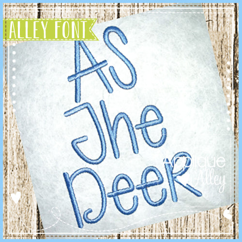 AS THE DEER FONT 4825AAEH