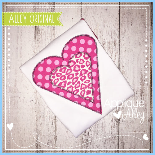 BLANKET STITCH DOUBLE HEART