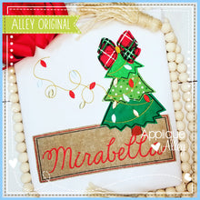 Load image into Gallery viewer, CHRISTMAS TREE BOW WITH LIGHT STRING NAME PLATE 5187AAEH