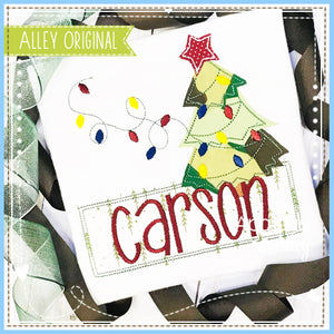 CHRISTMAS TREE WITH LIGHT STRING NAME PLATE 5188AAEH