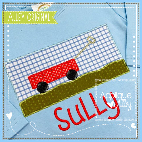 FARMHOUSE STITCH RECTANGLE WITH WAGON - AAEH