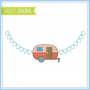 MINI CAMPER WITH HEARTS FRAME 5284AAEH