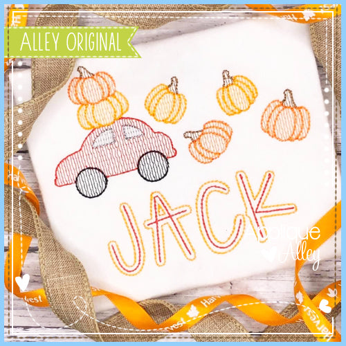 SCRATCHY CAR WITH PUMPKINS 5057AAEH