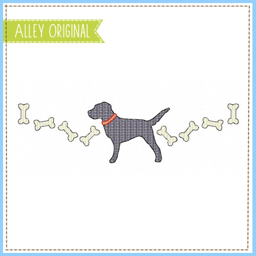 SCRATCHY LAB WITH BONES FRAME 5285AAEH