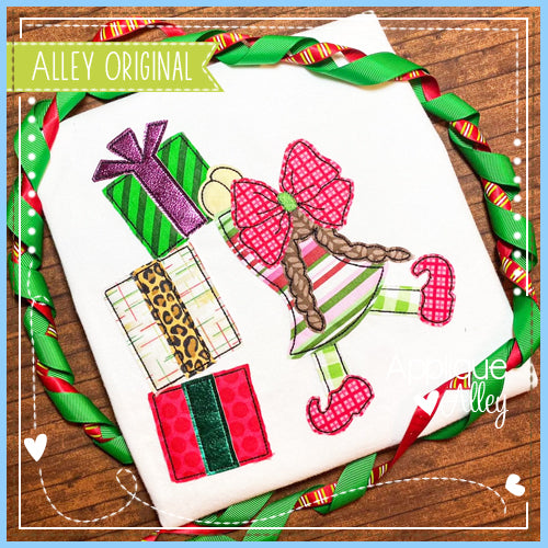 VINTAGE ELF GIRL STACKING GIFTS 5206AAEH