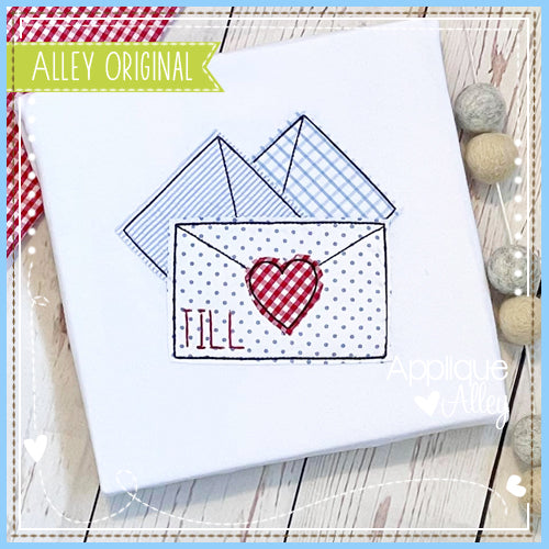 VINTAGE LOVE LETTERS WITH HEART 5361AAEH