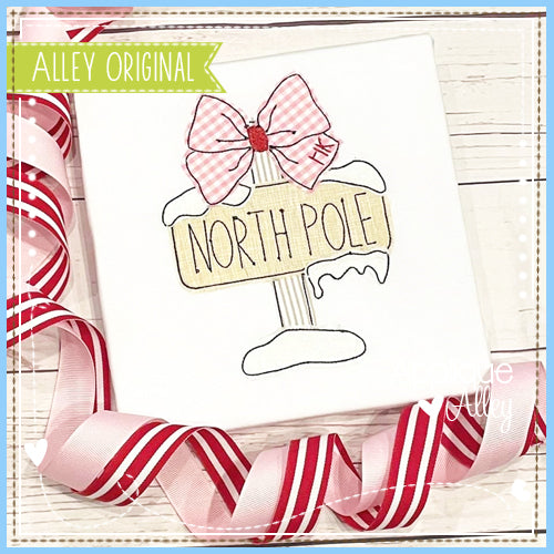 VINTAGE NORTH POLE WITH BOW 5210AAEH