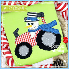 Load image into Gallery viewer, VINTAGE TRACTOR WITH SNOWMAN 5202AAEH